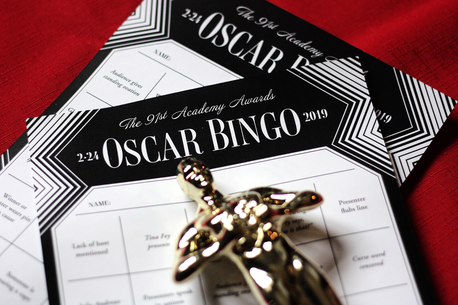Printable Oscars Bingo Updated With 2019 Oscars Presenters Nominees